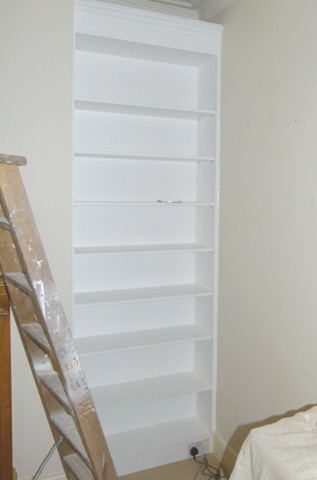 fitted alcove bookcases